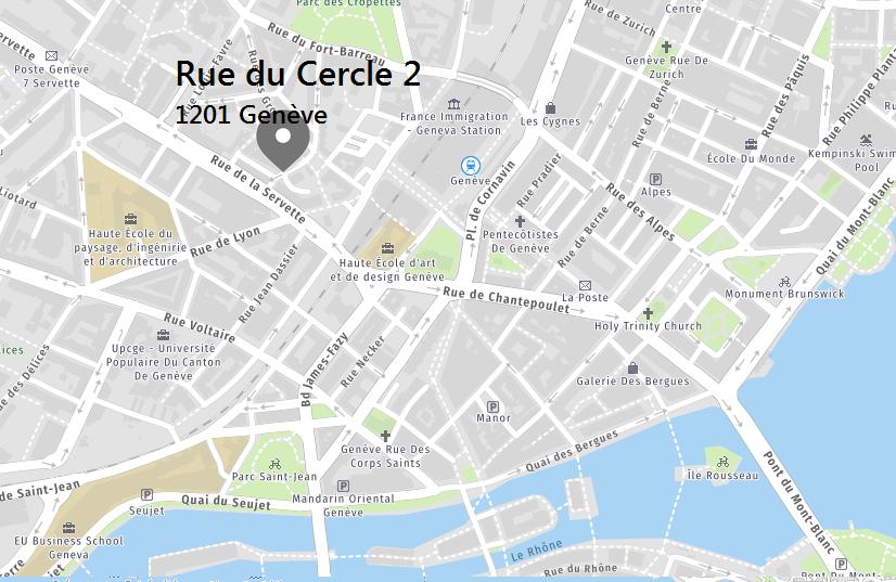 Plan de situation de l'IDEC à Genève